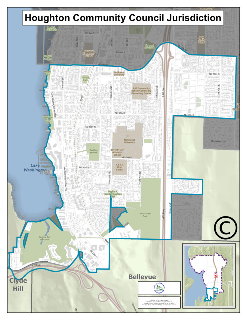 map of Houghton